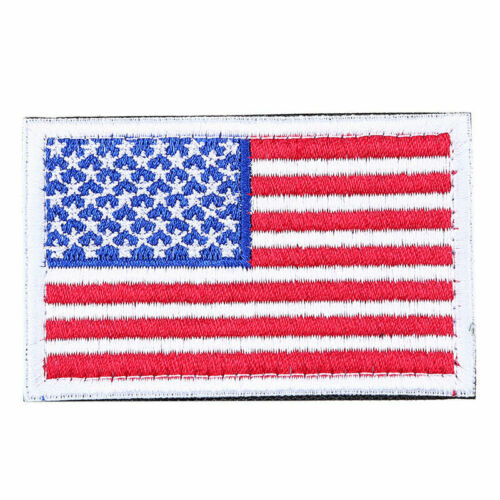 Flag Embroidered Sew On Iron On Patches Set Badge Bag Fabric Applique Craft