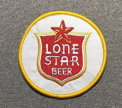 LONE STAR BEER Circle Patch 3in Brewery Brewing si