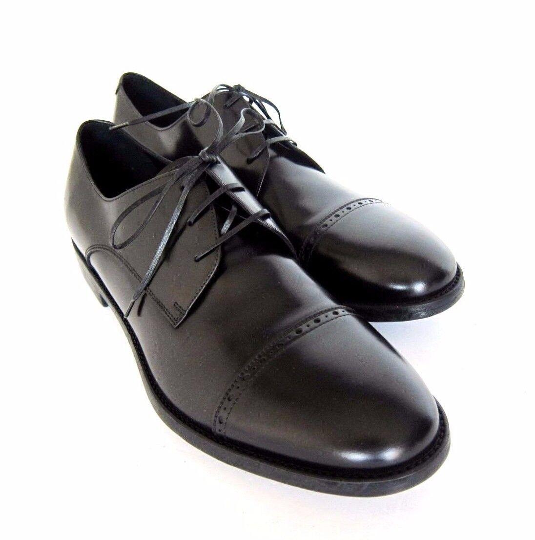 S-1725226 Nuovo Salvatore Ferragamo Sireno black pelle con Lacci shoes Misura