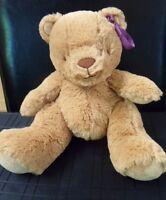 TESCO CUDDLE & LOVE BROWN TEDDY BEAR SOFT HUG TOY BABY COMFORTER