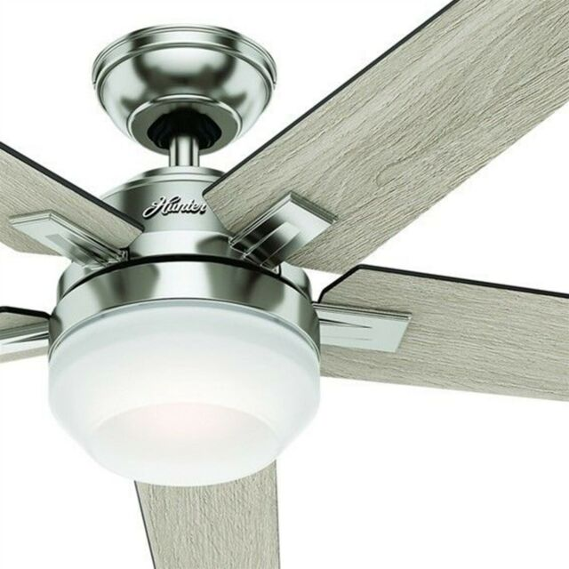 Brushed Nickel Ceiling Fan With Light