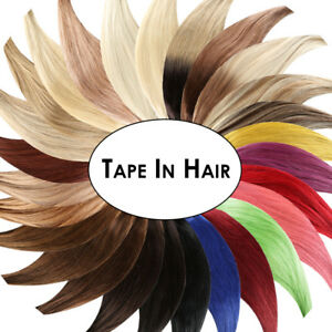 Tape In / On Hair Extensions Echthaar Haarverlängerung Tape-Hair, 2,5g Strähnen