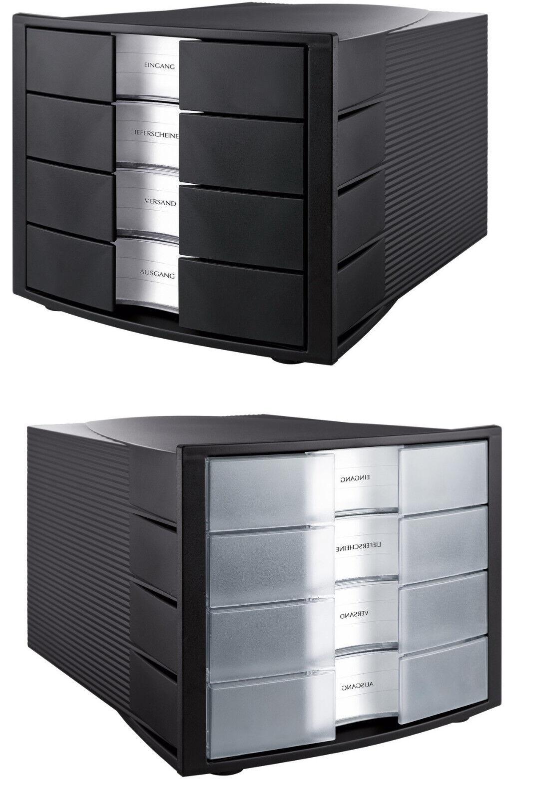 han schubladenbox impuls mit 4 schubladen ordnung ablage ebay. Black Bedroom Furniture Sets. Home Design Ideas