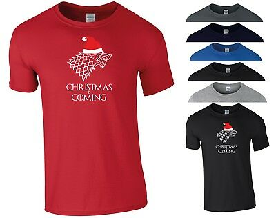 Game Of Thrones Christmas Vest Xmas is Coming GOT Stark Wolf Gift Men Tank Top
