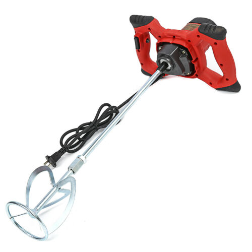 220V 2000W Handheld 6-speed Industrial Electric Cement Mixer for Stirring Mortar