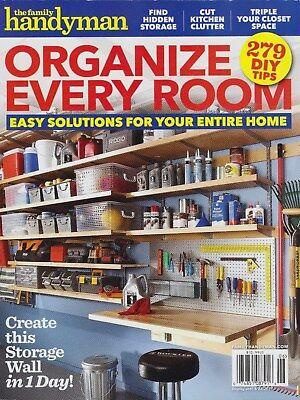 FAMILY HANDYMAN MAGAZINE : ORGANIZE EVERY ROOM - 279 DIY TIPS - NEW - FREE  SHIP!   eBay