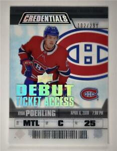 2019-20-Credentials-Debut-Ticket-Access-Acetate-RTA-1-Ryan-Poehling-RC-299