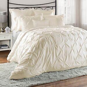 8-Piece-Lucilla-Pinch-Pleat-Pintuck-Ruffling-Comforter-Set-King-Ivory-Soft-Touch