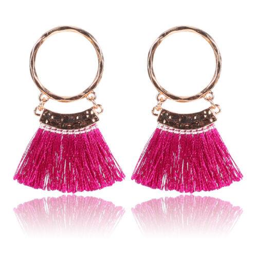 Stylish Bohemian Earrings Handmade Tassel Drop Dangle Boho Earring Jewelry Gifts