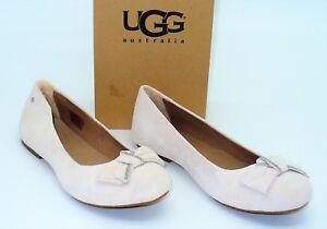 ccc612727bb Details about UGG Australia (W5) Jacqueline Shoes Flats Bow Fresh Snow  Crystal Womens SZ 10