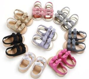 Newborn Baby Girls Crib Shoes Infant Soft Sole Summer Sandals 3 6 9 12 18 Months