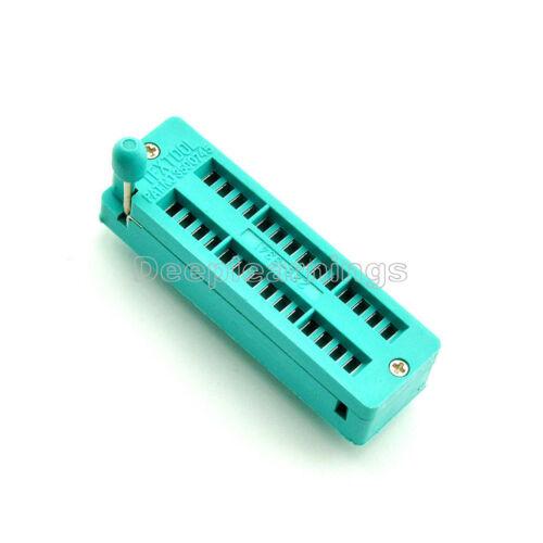 28P 28-Pin Narrow Body Universal ZIF Test DIP IC Socket Connector AM