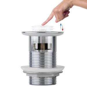 popup bouncing excenter push open abfluss ablauf ventil 8cm f r waschbecken 6914410436059 ebay. Black Bedroom Furniture Sets. Home Design Ideas