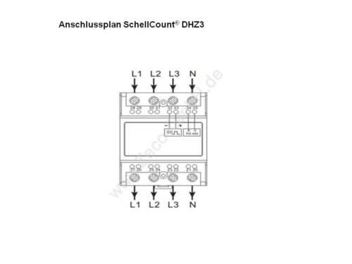 Drehstromzähler 230//400V geeicht 2020 S0-Schnittstelle mit 1000imp rollierend