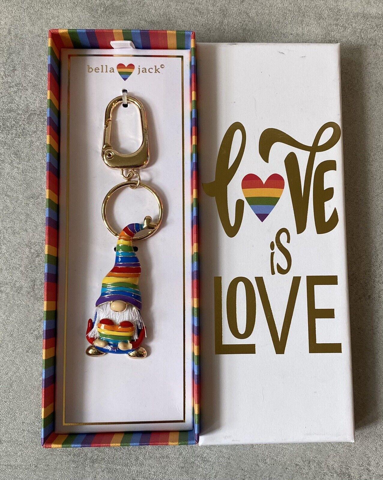 ! nuevo! amor es amor Bella Jack GNOME Arco Iris Llavero Fob LGBTQ difícil de encontrar!