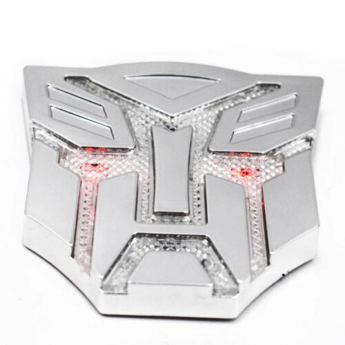 Autos Transformer Frame Emblem Badge Solar Power Flash Strobe LED Light Cheap