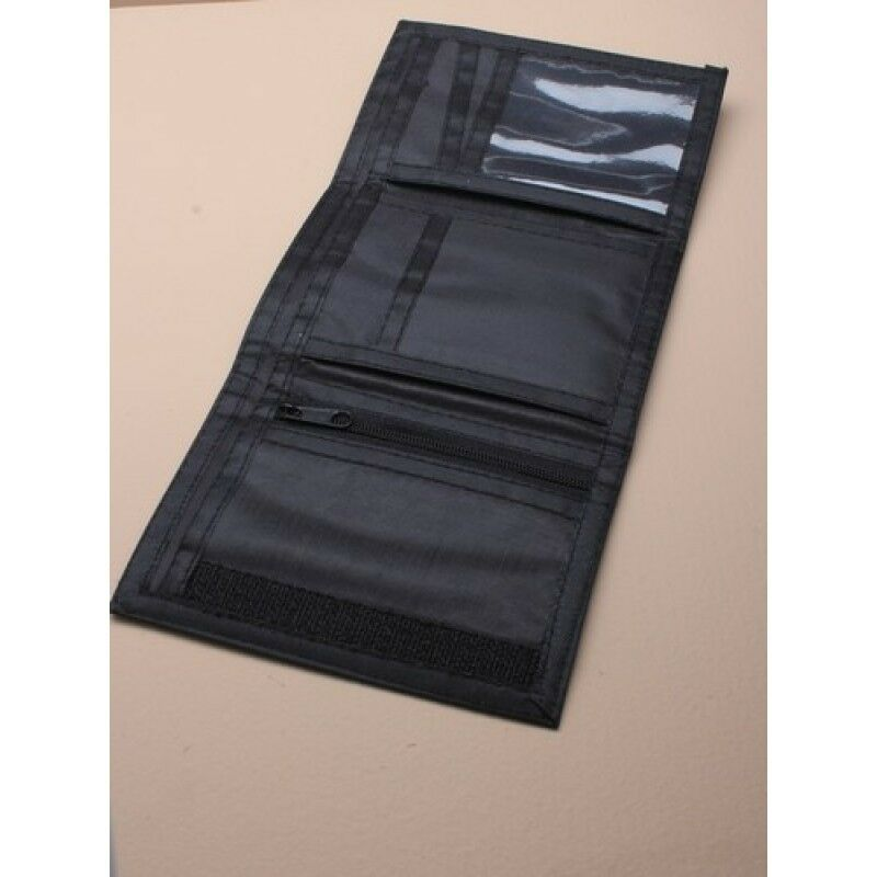 NEW Black material mens wallet 13x9cm boys accessories coin card fathers day UK
