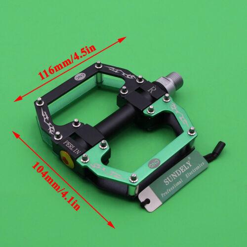 Hot Road Mountain Bike Platform Pedals Flat Aluminum Sealed Bearing 9//16 For MTB