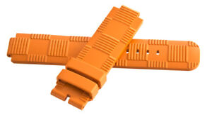 a1d8df5520c1 Louis Vuitton Women s 21mm x 21mm Orange Rubber Watch Band Strap