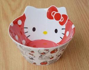 New Cute Hello Kitty Rice Soup Food Bowl Kitchen Die-Cut Melamine Bowl