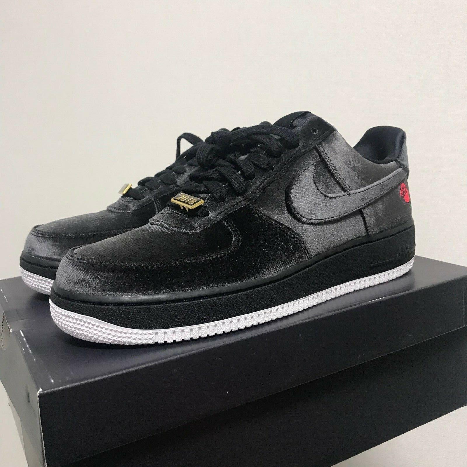 Nike Air Force 1 '07 QS Black Velvet pink AF1 shoes  AH8462-003 Size 10 Limited