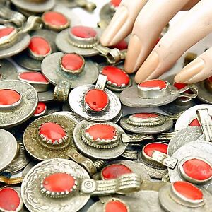 60 real Jeweled COINS Tribal BellyDance Kuchi Tribe - RED Color
