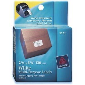 4 boxes avery 9173 address labels 2 1 8 x 3 1 2 white free