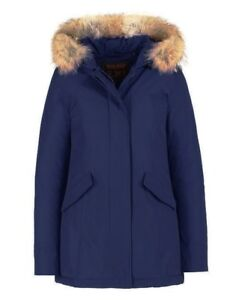 cff4146280cd51 Image is loading Woolrich-Arctic-Parka-Slim-Fit-Woman-Blue-WWCPS-