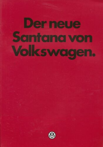 0190VO VW Santana Prospekt 1981 9//81 brochure Autoprospekt prospectus catalog
