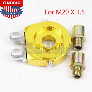 New-M20-X-1-5-Oil-Filter-Cooler-Relocate-Adapter-Sandwich-Plate-Sl-10AN-GOLD