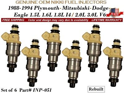 EAGLE SUMMIT 4 1989-1990 MITSUBISHI MIRAGE 1.5L FUEL INJECTORS INP-050
