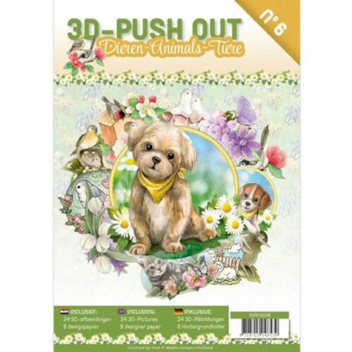 3D Push Out Book Animals 6