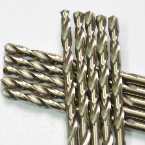 """Drillforce 10PCS 7//32/"""" Cobalt Drill Bits Set HSSCO M35 Jobber Metal Drill Bit"""