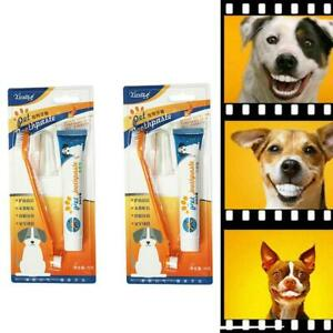 Pet-Puppy-Dog-Cat-Tooth-Finger-Back-up-Brush-Oral-Care-Toothbrush-Toothpaste