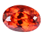 thumbnail 1 - 7.35 Ct Natural Fire Orange Sapphire CERTIFIED Oval Sparkling Tanzania Gemstone