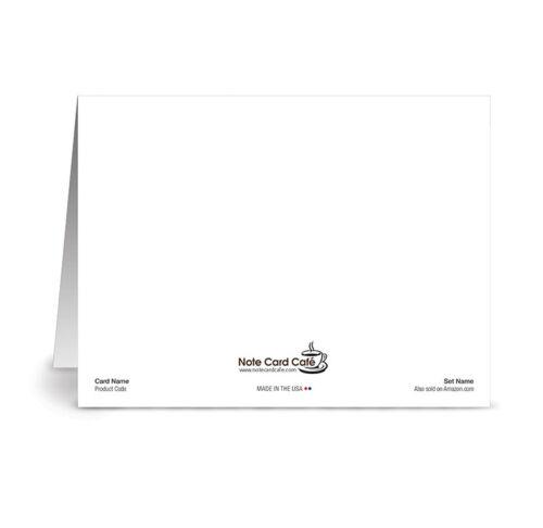Mardi Gras Plumeria 24 Note Cards Off White Ivory Envs