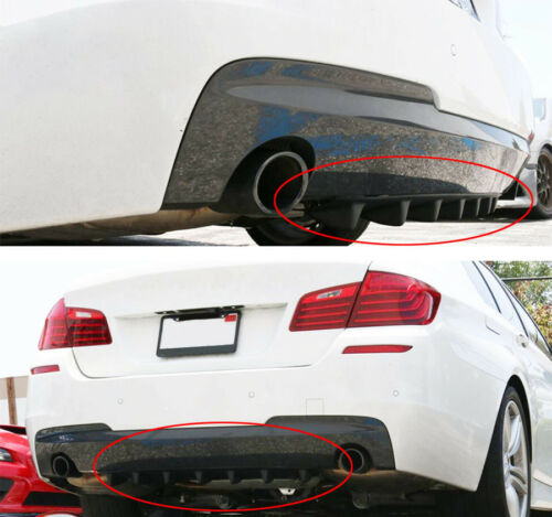 """Shark Fin 7 Wing Lip Diffuser 33/"""" x6/"""" Rear Bumper Chassis Black ABS  Universal"""