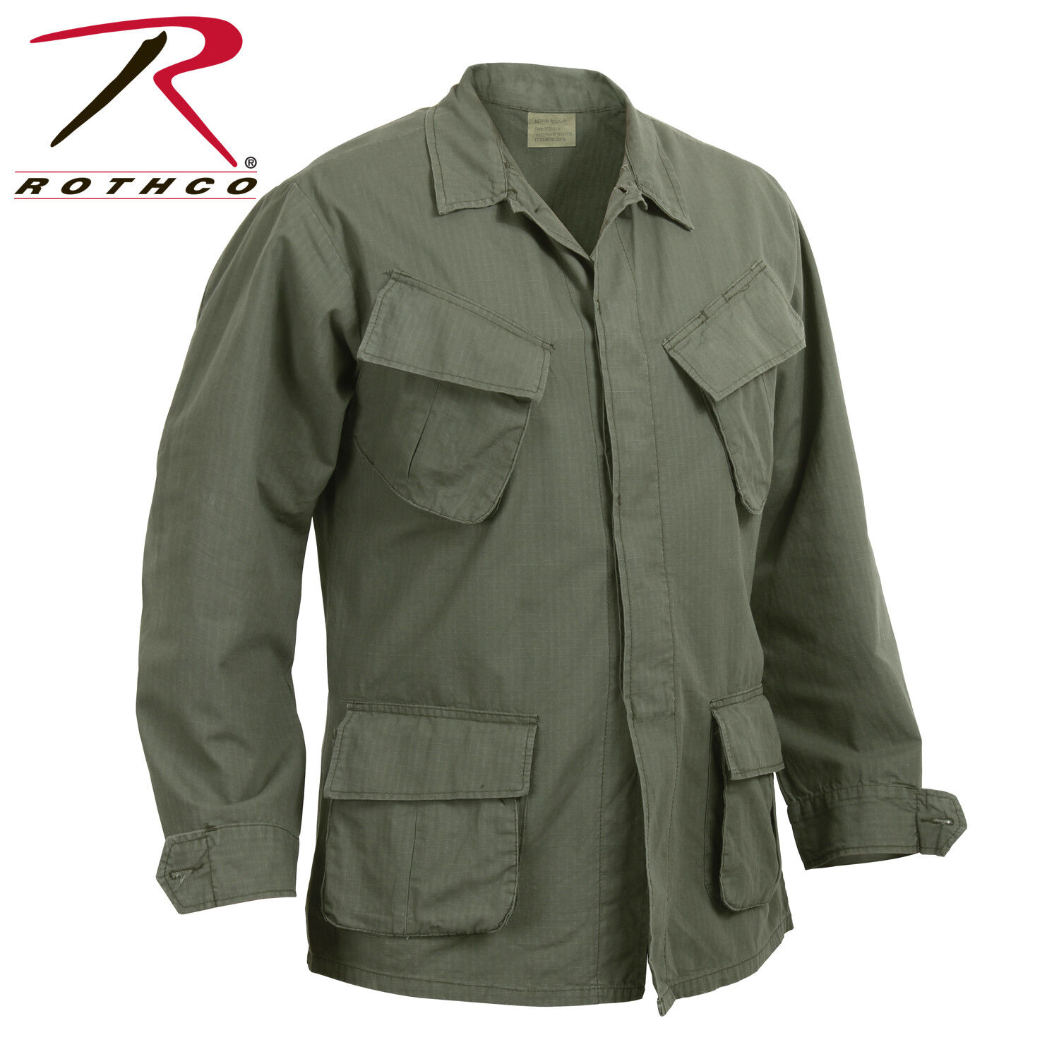 redhco Vintage Vietnam  Style Fatigue Shirts OLIVE DRAB  online fashion shopping