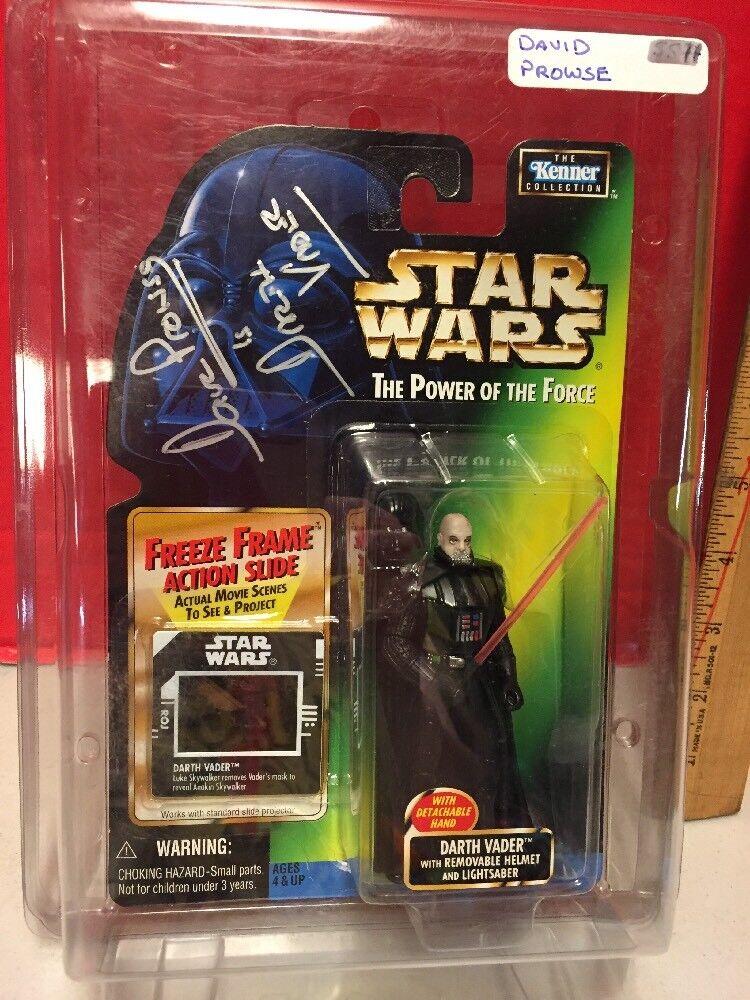 Darth Vader poder de la fuerza FFAS autografiada David Prowse Figura de Acción Kenner