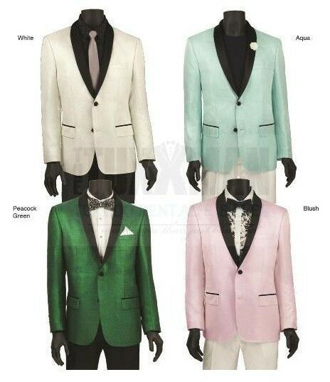 New color Sport Coat Mens TUXXMAN 2 Button Summer Slim Fit Casual Style Look