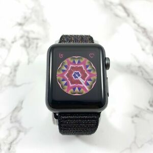 Apple-Watch-Series-1-38mm-Space-Gray-Aluminum-w-Black-Sport-Nylon-Loop-MP022LL-A