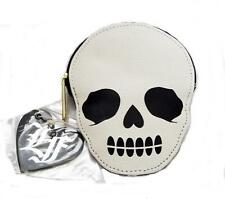 Loungefly Skull Coin Bag Purse 6 x 5 Womens Girls New w/ Tags White Black