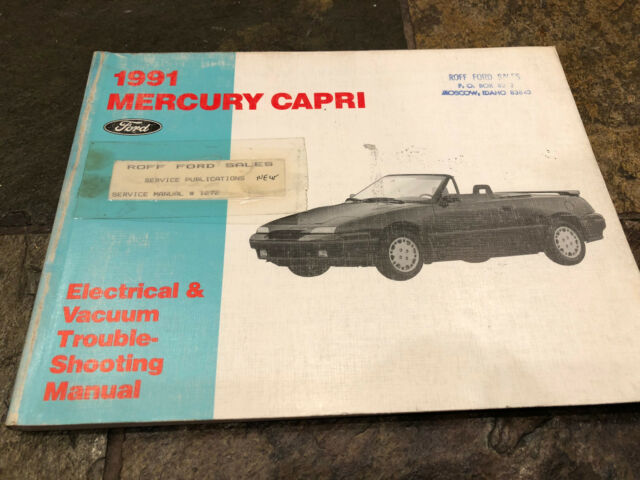 1991 Mercury Capri Wiring Diagrams Electrical Service Shop