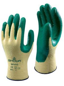 SHOWA GP-KV2R Nitrile DuPont Kevlar Grip Gloves Cut Resistant Heavy Duty Work