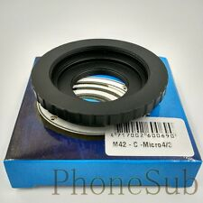 M42 / C Mount Movie Lens to Micro 4/3 M43 Mount Adapter Dual Purpose M42/C-M43