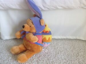 Appris Walt Disney Winnie The Pooh Pâques Lapin Peluche Animal Bébé Poussin Oeuf