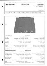 Blaupunkt Service Manual für BQA 160