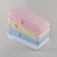 """Premium Quality 100% Cotton Cellular Blanket ,Fit (Pram/Cot/Cotbed),""""MADE IN EU"""""""