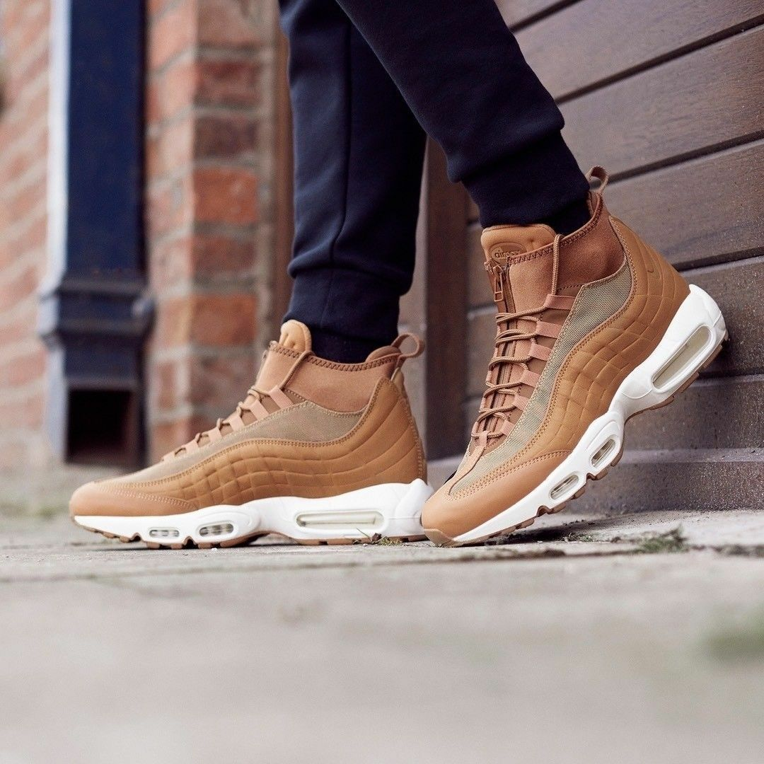 78a27ccfd7 NIKE AIR MAX 95 SNEAKERBOOT ,WHEAT PACK'' SIZE 8.5 EUR 43 201)BROWN ...