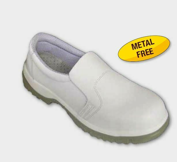 Predection Line shoes moccasins white accident prevention S2 for kitchen